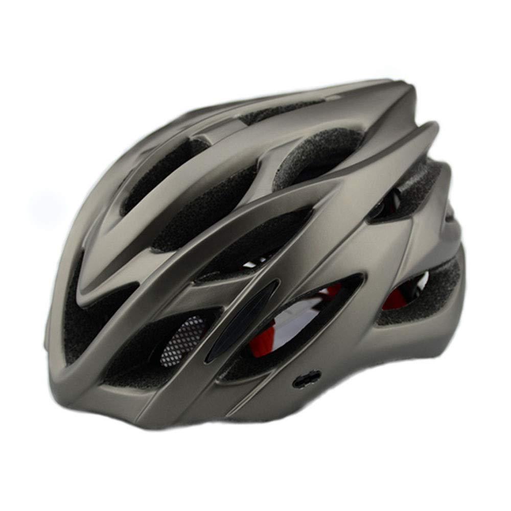 Light Casque d'équitation monobloc pour hommes et femmes avec accessoires de vélo pour casque léger Comfortable (Color : Black)