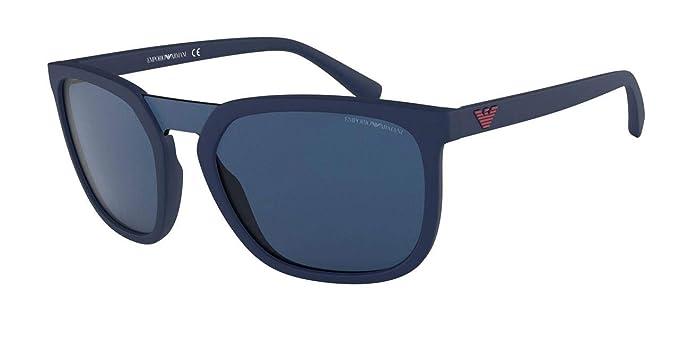 Emporio Armani 0EA4123, Gafas de Sol para Hombre, Matte Blue, 45