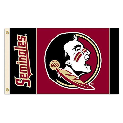 BSI NCAA Florida State Seminoles 2-Sided Flag with Grommets, 3' x 5', Maroon (Banner Side 2 Ncaa)