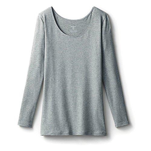 あらゆる種類のナンセンス看板あったかインナー ホットコット?綿混長袖レディース 杢グレー