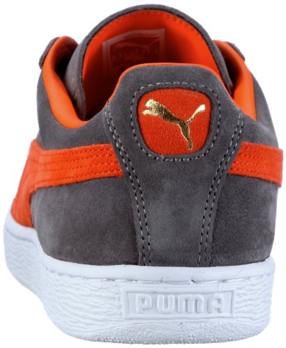 Puma Herren Suede Classic+ Low-Top, 37 EU Grau (steel grey-vermillion orange 28)