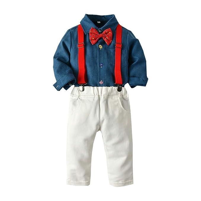 Amazon.com: Conjunto de ropa de bebé para niños con lazos de ...