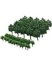 Bomen Modelbouw Landschap Boom Model Bomen Model Miniatuur Boom Kunstmatige Plastic Boom Zelfgebouwde Landschapsboom Natuurlijk Groen Geschikt, voor Zandtafelsimulatie Gebouwen 40 Stuks
