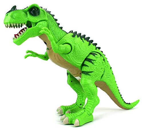 Animals That Begin With W (Dinosaur World Tyrannosaurus Rex Battery Operated Walking Toy Dinosaur Figure w/ Light Projection, Realistic Movement, Lights and Sounds (Colors May Vary))
