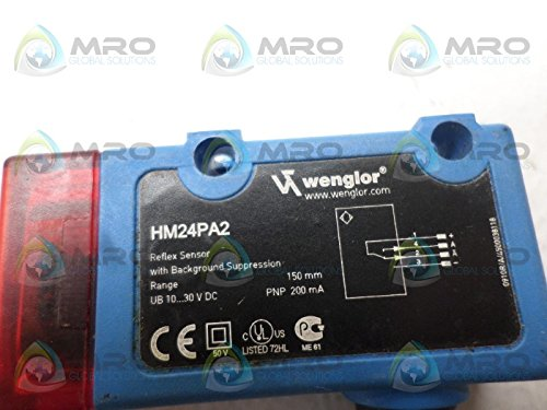 with Background Suppression WENGLOR HM24PA2 Reflex Sensor