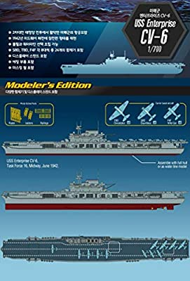 Academy USS Enterprise CV-6 Aircraft Carrier Modeler's Edition