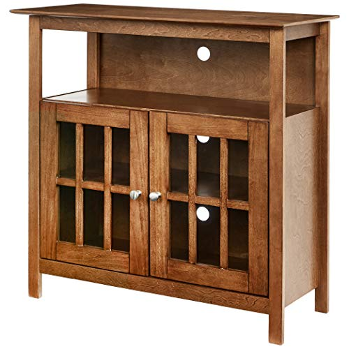 Rockpoint Argus Highboy TV Stand, Autumn Maple