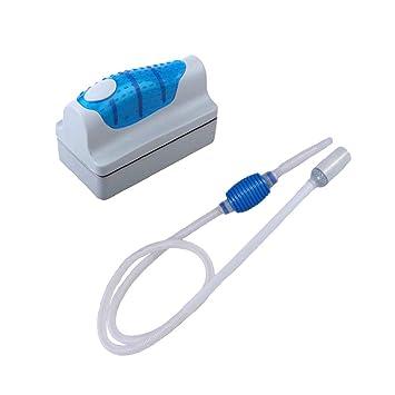POPETPOP 2 Piezas Bomba de Sifón con Cepillo Magnético, Cambiador de Agua para Acuario,