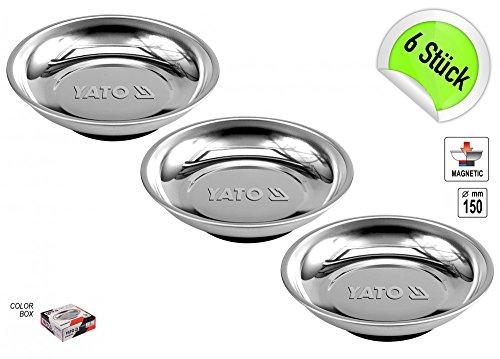 6 x Montageschale Magnetteller Schale Magnetschale 150 mm für Werkzeug und Schrauben