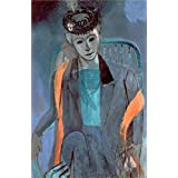 Canvas Prints Of Oil Painting 'Portrait Of The Artist's Wife , 1913, By Henri Matisse' 24 x 37 inch / 61 x 94 cm , Polyster Canvas Is For Gifts And Kids Room, Kitchen And Study Room Decoration, offers