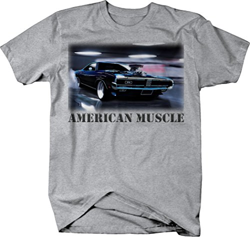 OS Gear American Muscle Hotrod Supercharger Big Block Horsepower Classic Tshirt - Large