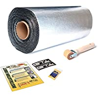 50 sqft GTMAT Pro 50mil Automotive Car Self Adhesive Sound Dampening Noise Deadening - Installation Kit Includes: 50sqft Roll (18x 33.3), Instruction Sheet, Wooden Roller, and Degreaser