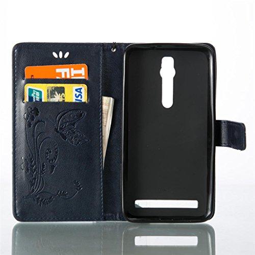 Erdong® Magnético Folio Flip Caso Con pata de cabra titular de la tarjeta Para Asus Zenfone 2 ZE551ML 5.5