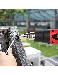 Kit de pistola de calor Amtake profesional de aire caliente 1500 W regulable control de temperatura 120 °F 1020°F con cuatro boquillas para flexiones de tubos, sellado, tubo de encogimiento, removedor de pintura