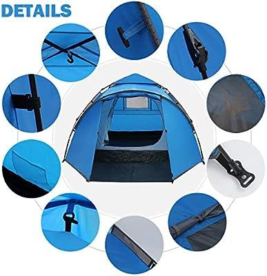 IREGRO Wurfzelt Pop Up Zelt 3-4 Personen automatisches Campingzelt  Z2 Z2