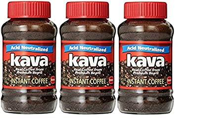 Kava Reduced Acid Instant Coffee (Pack of 3)