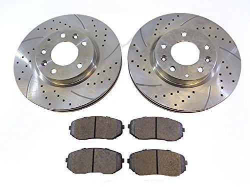 2x Front Brake Disc Rotors 31460A Brake Pads D1258 CBK: