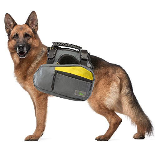 Go Fresh Pet 2-in-1 Pet Dog Harness and Hiking Dog Backpack Outdoor Gear Travel Camping Rucksack