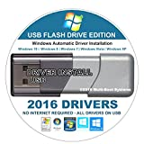 2016 Universal Windows Drivers For Microsoft Windows XP, Vista, 7, 8 and 8.1 - Easy Automatic Install - Any Missing Driver or Update Existing Device Drivers 16GB USB DRIVE