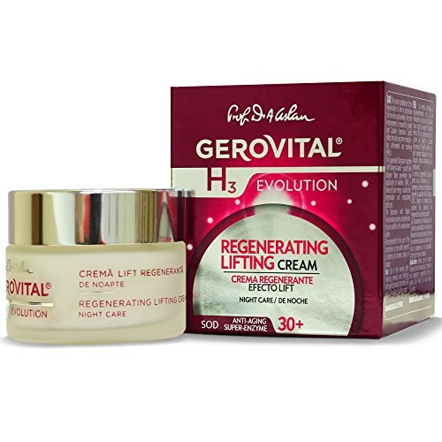 GEROVITAL H3 EVOLUTION, Regenerating Lifting Cream Night Care with Superoxide Dismutase (Anti-Aging