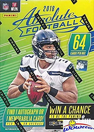 2018 Panini Absolute Nfl Football Exclusive Factory Sealed Retail Box With Autograph Or Memorabila Card Look For Rookies Autos Of Baker Mayfield