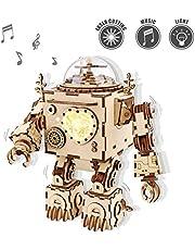 ROKR Kit de Caja Musical de Madera Puzzle de Madera 3D Mechanical Model Construction Kit-Proyectos Divertidos para Adultos y Niños - Maqueta 3D de Funcionamiento mecánico