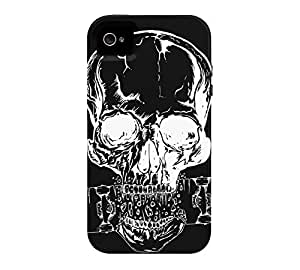 skull skaters iPhone 4/4s Black Tough Phone Case - Design By Humans