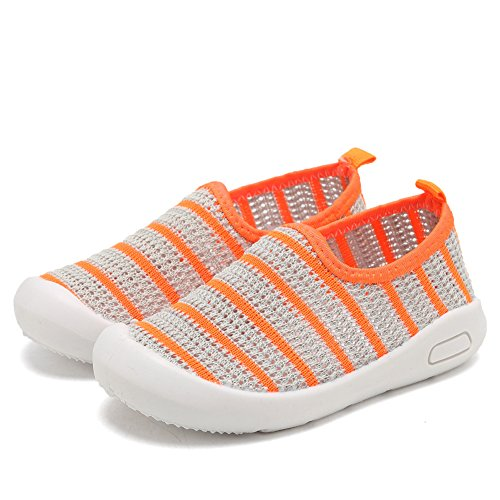 CIOR Kids Slip-on Casual Mesh Sneakers Aqua Water Breathable Shoes For Running Pool Beach (Toddler/Little Kid) SC1588 Grey 26 3