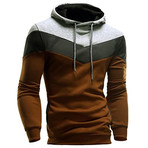 Cheap ColorFinoMens Novelty Color Block Pullover Hoodies Sports Autumn Outwear supplier