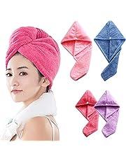 Hair Towel Microfiber Hair Dry Towel for Women Super Absorbent Fast Drying Hair Turban Wrap Towel