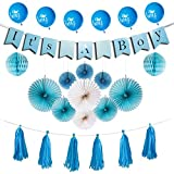 Baby Shower Decorations For Boy, Its A Boy Party, Glossy...