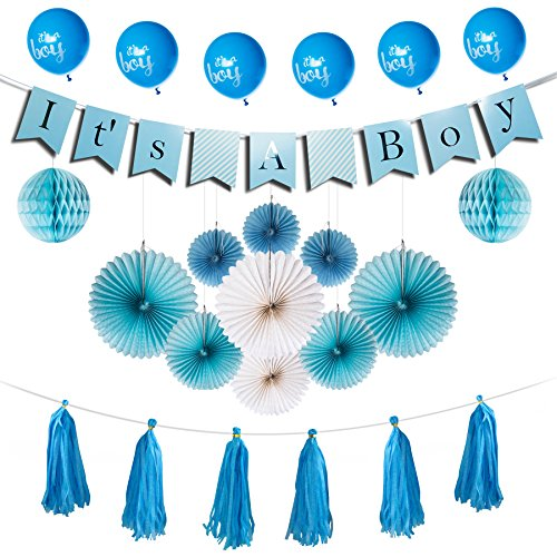 Enochee Baby Shower Decorations For Boy - Its A Boy Party Supplies ALL-IN-ONE
