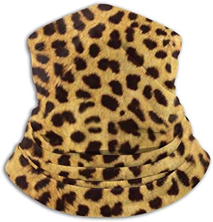 Alanader SeamlessLeopard Print Neck Gaiter,Fishing Mask, Magic Scarf, Tube Mask, Bandana Mask