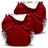 Lil Joey 2-Pack All in One Cloth Diaper, Scarlet