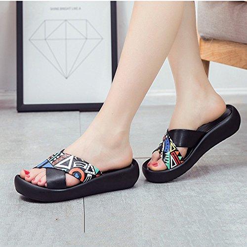 Pu Zapatos amp;chanclas B Estudiante Planos De Sandalias Verano Ocasionales Mujer Del La Playa Elegante Zapatillas Simplicidad Xia BH75qwp7