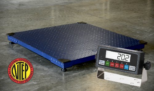 Certified NTEP 5000lb/1lb 48x48 Legal For Trade Floor Scale with Indicator by Certified Scale