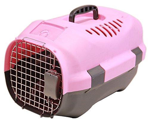 BPS (R) Transportín Rígido para Perro o Gato, Animales Domésticos, Tamaño: 47 x 30 x 29 cm. (Rosa)