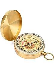 Mitening Vattentät kompass för camping vandring, retro bärbar militär överlevnadskompass självlysande kompass campingutrustning överlevnadsutrustning