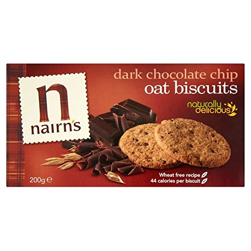 Nairn's Dark Choc Chip Oat Biscuits (200g) - Pack of 2 by Nairn's