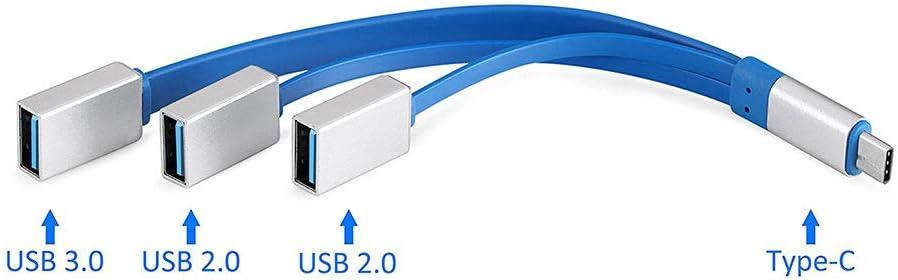 Hub USB Splitter Support Mac usb3.0+2 Port Usb2.0 Usb3.1 Type-c Hub