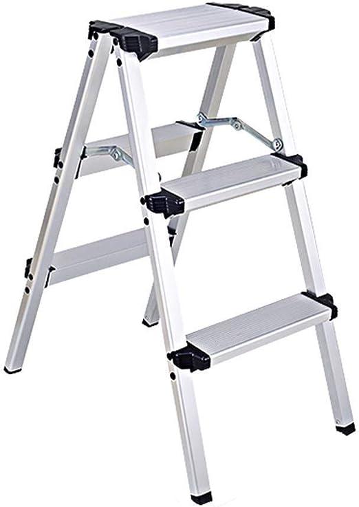 DY Taburete de Paso, Escalera Plegable de Aluminio, Ingeniería Espiga de extensión Escalera, Escalera mecánica Inicio (Size : 3 Step): Amazon.es: Hogar