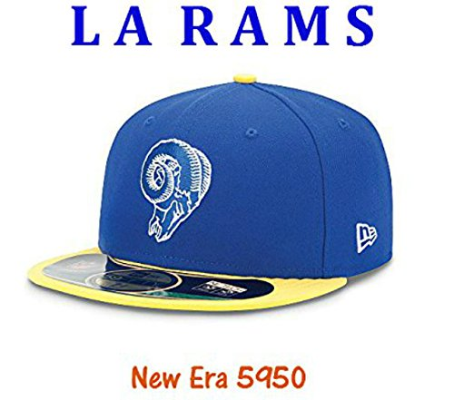 454d1d5b0e1 ... coupon for los angeles rams fitted size 7 1 8 throwback logo new era  5950 hat