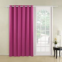 Deconovo Thermal Insulated Blackout Curtains Wide Width Curtains Room Darkening Curtains Grommet Curtains 1 Panel