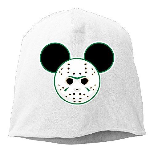 Freddy Krueger Teen Hat (Funny Jason Mouse Head Men Women Daily Beanie Hat, Skull Cap ( 6 Colors ) White)