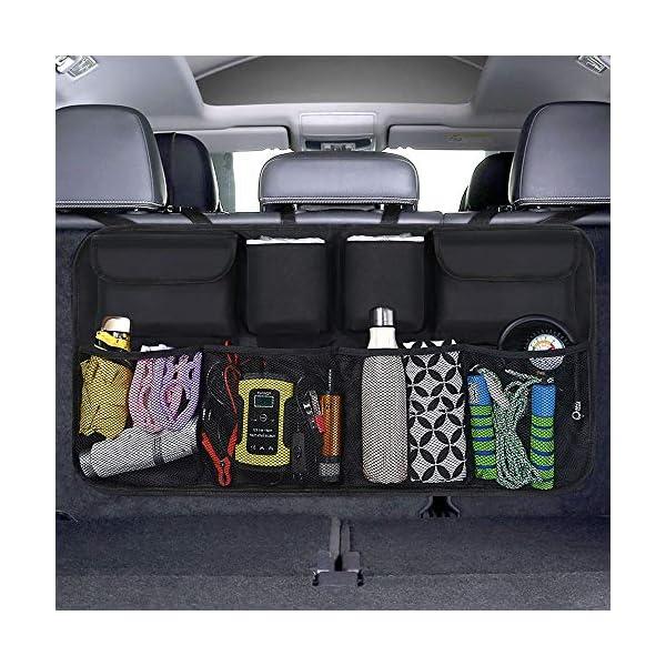 51qzeyauCJL URAQT Kofferraum Organizer Auto, Auto Aufbewahrungstasche, Kofferraumtasche Auto, Wasserdichten Taschen Auto mit Starkes…