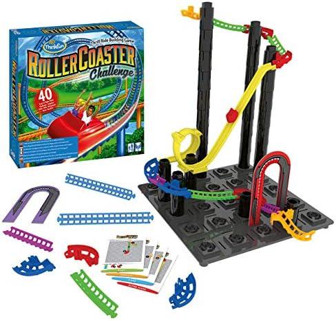 ThinkFun 76343 - Roller Coaster Challenge™ - das Logikspiel, bei dem es hoch hinausgeht