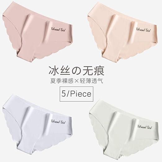 balalSY Bragas de algodón sin Marcas para Mujer, Cintura Media, Pantalones japoneses, Calzoncillos de una Pieza Finos de Seda de Hielo de Verano-L_Grupo J: Amazon.es: Hogar