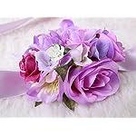 pretty-bridesmaid-wrist-corsage-rose-flower-wedding-bridal-purple