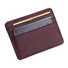 Fashion Women Lichee Pattern Bank Card Pack Document Bag Purse