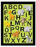 Alphabet Safari Nursery Wall Art